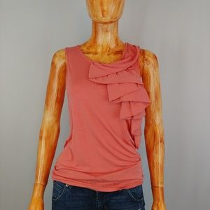 TED BAKER | coral indy ruffle detail tank top